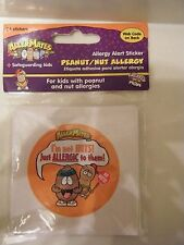 Allermates *** Health ALERT PEANUT ALLERGIES *** 24 Stickers labels