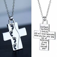 Fashion Cross Elegant Handmade Letter Friendship Necklace Pendant Gift For Women