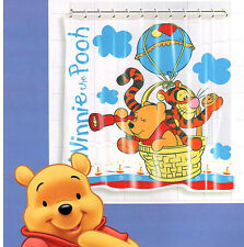 Winnie The Pooh Waterproof Bathroom Bath Shower Curtain + 12 Rings New 1404