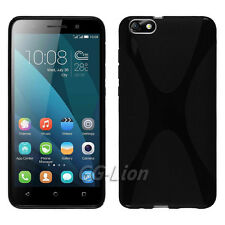 Black X-line Gel TPU Case for Huawei Honor 4X Che2-L11,Che1-VL20, Glory Play 4X