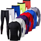 Mens Compression T Shirt Armour Base Layer Skins Tight Top Thermal Pants Legging