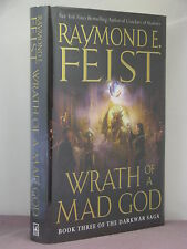 1st,signed by author, Riftworld-Darkwar Saga 3:Wrath of a Mad God, Raymond Feist