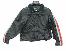 Men's Victory Motorcycle Nylon Rain Jacket With Red Stripe Windbreaker NWT