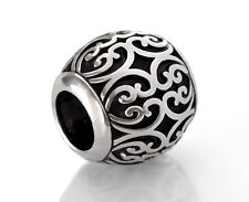 Silver Filigree European Beads Fit European Charm Bracelets