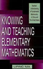 Knowing and Teaching Elementary Mathematics: Teachers' Understanding of