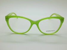 NEW Authentic VERSACE Mod. 3193 5096 Lime Glitter 54mm RX Eyeglasses