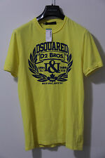 DSQUARED2 - DSQ - Yellow Cotton T Shirt - S Small - F/W 13 - S71GD0088