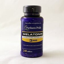 Puritan's Pride Melatonin 3 mg 240 tablets sleep aid dietary supplement