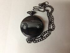 Citroen GS ref48 emblem polished black case mens pocket watch