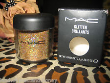 MAC Loose GLITTER Brilliants 3D GOLD 7.5g Old Style Jar Multi Use RARE, NEW