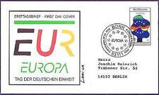 BRD 1998: Deutsche Einheit! FDC Nr. 1985! Sonderstempel Bonn! Gelaufen! 1A 1608