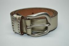 Fossil Pale Gold Genuine Leather Casual Stud Studded Belt Small 32 33