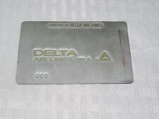Rare Vintage Delta Airlines Metal Ticket Validation Plate Travel Agency