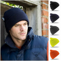 Thinsulate Hat Beanie Knitted Mens Warm Winter Wooly Outdoor Chunky Thermal Ski