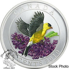 Canada 2010 25 Cents Goldfinch Coloured Coin