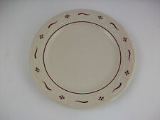 "Longaberger Pottery Woven Traditions Red 10"" Dinner Plate~~Made in the USA!"