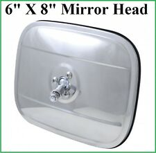 6x8 Stainless Mirror Head Exterior Door Round Rear View Outside Rectangle Square