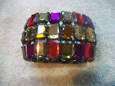 JOAN RIVERS Jeweled BIG BOLD BEAUTIFUL Stretch Multi Colored BRACELET NIB