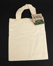 50 SMALL 100% COTTON Tote Bags DIY Crafts LOT Blank ready to decor ECO Friendly