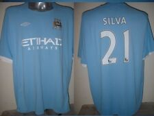 "Manchester city silva adulte xxl 54"" shirt jersey football soccer umbro espagne top"