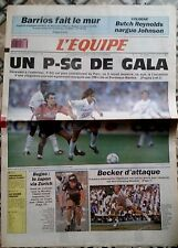 L'Equipe Journal 18-19/8/1990; Barrios/ Butch Reynolds nargue Johnson/ Bugnon