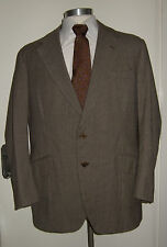 Vintage 1960's BERNARD COOPER Brown Tweed Jacket Keith & Hernderson Cloth 42-44""