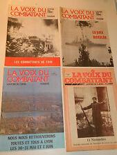 LOT LA VOIX du COMBATTANT Djebel flamme 1980-1984 JOURNAL des ANCIENS MILITAIRES