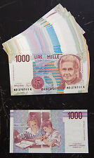 ITALY PICK # 114 MONTESSORI LAST PRE EURO 1000 LIRE GROUP of 100 UNCIRCULATED