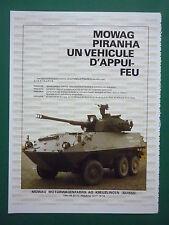 6/1983 PUB MOWAG KREUZLINGEN SUISSE BLINDE PIRANHA 6X6 ORIGINAL FRENCH AD