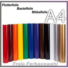A4 Plotterfolie Bastelfolie Möbelfolie Deco Folie Klebefolie Selbsklebend Bögen