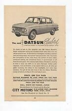 Nissan Datsun Bluebird Original Advertisement from a Catalogue City Motors