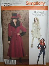 Womens/Misses Coats & Jackets Sewing Pattern/Simplicity 1732/SZ 6-14/UCN