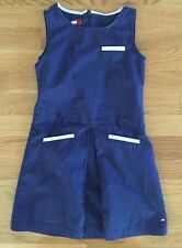 Tommy Hilfiger Dress Size 5T Girls Blue Sleeveless 100% Cotton
