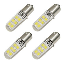 4X White DC12V Car T4W BA9S Silicone Case LED License Plate Lamp Door Light New