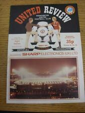 06/03/1985 Manchester United v Videoton [UEFA Cup] . Item in very good condition
