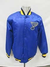 St. Louis Blues Men's Medium Starter Snap Up Satin Jacket NHL A15M