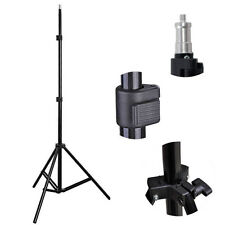 1/4 Head Studio Light Flash Speedlight Umbrella Stand Holder Bracket Tripod Set