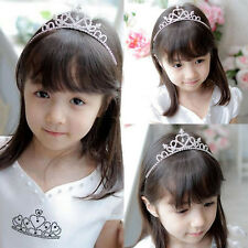 Pretty Kids Girls Bridal Princess Rhinestone Crown Prom Tiara Hair Band Headband