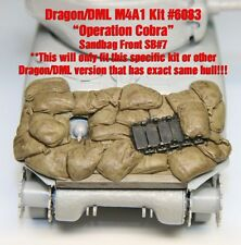 "1/35 Sherman Sandbag Front ""SB7"" Value Gear- For Dragon (Op Cobra) M4A1 Kit#6083"
