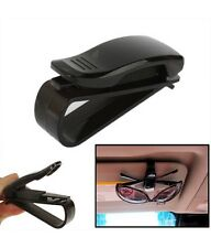 Sunglasses Car Holder Visor Clip Mount Glasses Eye Card Pen Sun Strap - Black