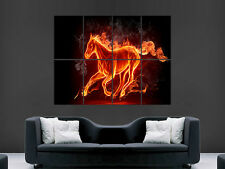 FIRE HORSE GIANT POSTER PRINT ART