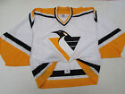 PITTSBURGH PENGUINS WHITE CCM 6100 TEAM ISSUED JERSEY GOALIE CUT 58 *RARE*