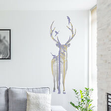 PASTEL BEAUTIFUL STAG IN THE WOODS DECAL WALL STICKER VINYL TRANSFER MURAL