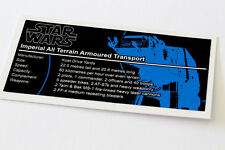 Lego Star Wars UCS / MOC Sticker for AT-AT (8129 / 75054 / Anio ST12)