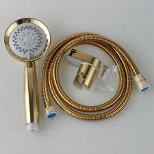 Gold 3Function Shower Head and 1.5 M Stainless Steel Hose With Bracket Holder
