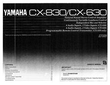 Yamaha CX-830 Amplifier Owners Manual