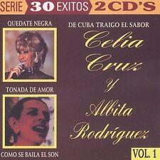Celia Cruz Y Albita Rodriguez Vol 1 Cuba  ALBUM Con 30 Canciones Double CD