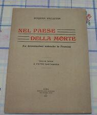 Nel Paese della morte - B. Vallotton - Ed. Tipografia Ausonia - Prima Ed. 1917