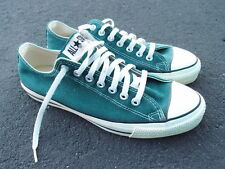 Vintage Converse Chuck Taylor Lowtop Shoes Size 9 Made in USA Green All Star CT
