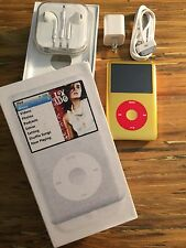New 120gb Custom U2 iPod Classic 6th Gen Gold/Gold 650mah Battery 1.1.2